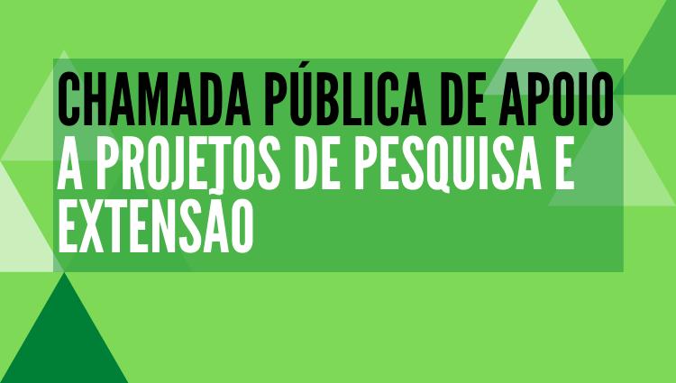 Chamada Pública de apoio a projetos - Proex/PRPPG 1/2020