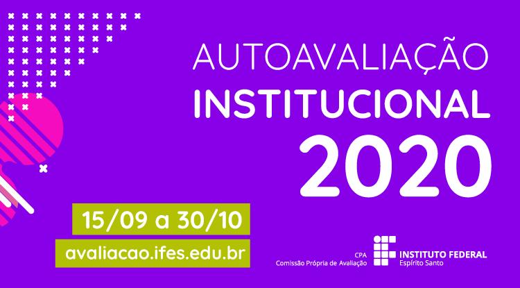 Autoavaliação Institucional 2020 começa nesta terça-feira (15)